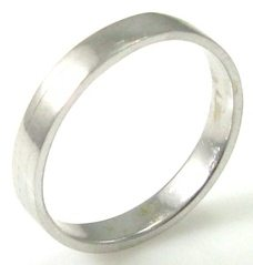 3.5mm wide, smooth texture, wedding band.