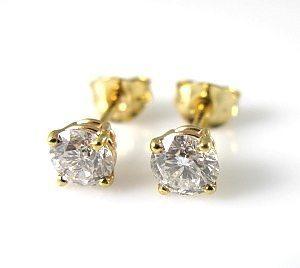 daa328b9a Diamonds stud yellow gold earrings model Do - venamoris