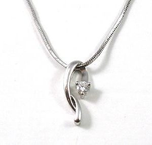 Diamond solitaire setting pendant V