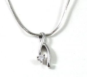 Diamond solitaire setting pendant II