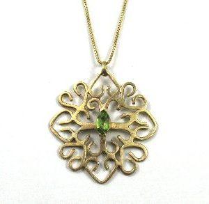 Celtic Peridot handmade pendant