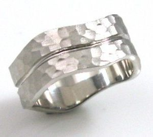 Hammer out, mat texture, wedding band I