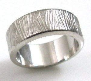 Wood like, smooth texture, wedding band I