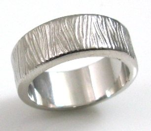 White Gold Wood Wedding Band Venamoris