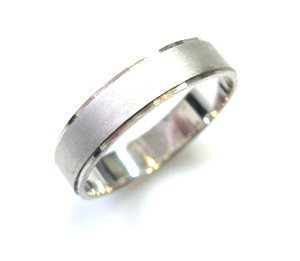 Thin with a frame ring, mat texture, ring