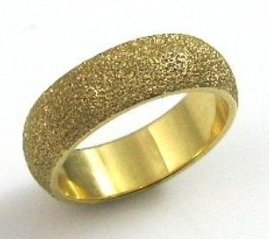 leveled, coarse texture, wedding band I