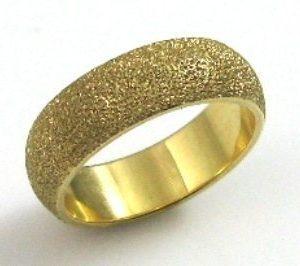 leveled, coarse texture, wedding band I