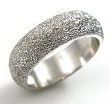leveled, coarse texture, wedding band II