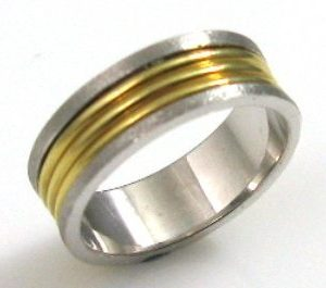 Mix colors wedding band
