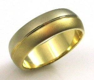 Two yellow gold colors, wedding band