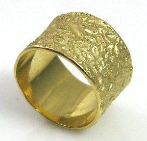 Stylish, coarse texture, wedding band