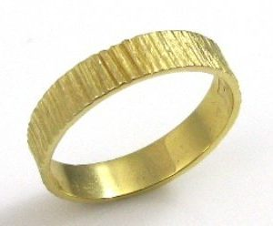 Wood like, smooth texture, wedding band III