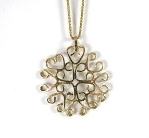 Celtic inspired gold pendant
