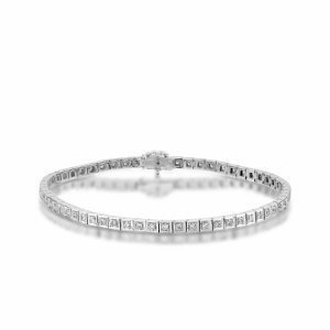 Diamonds tennis bracelet white gold model Rachel