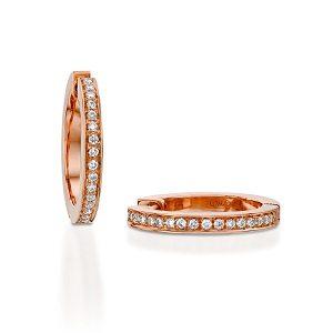 Diamonds hoop earrings model Jackie - RG
