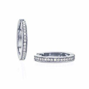 Diamonds hoop earrings model Jackie - WG
