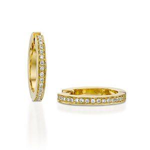 Diamonds hoop earrings model Jackie - YG