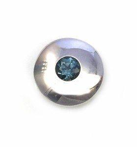 Ice blue sapphire solitaire pendant