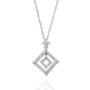 Diamonds kite white gold pendant
