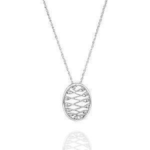 Diamonds white gold pendant model Becky