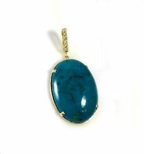 Eilat Stone & diamonds pendant