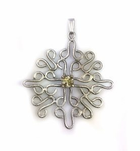 Celtic Scapolite handmade pendant