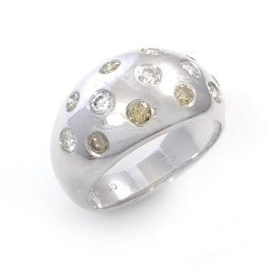 Yellow & white diamonds ring model Night Sky
