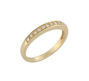 Diamonds band ring model Polly YG 0.15 carats
