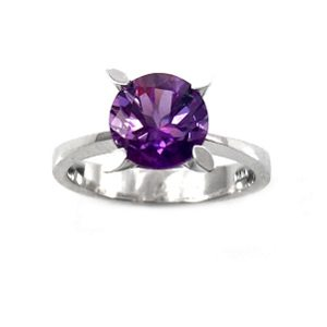 Amethyst solitaire ring model Dorothy