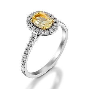 Scapolite & diamonds ring model Moran
