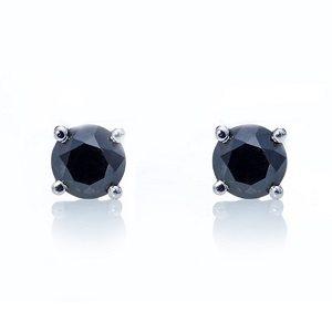 Black diamonds stud earrings model Re
