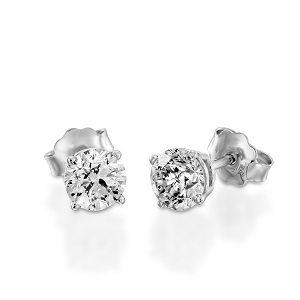 Diamonds stud white gold earrings model Do