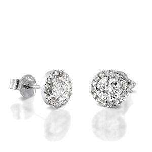 Diamonds earrings model sun