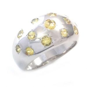 Yellow Sapphires ring model Night Sky