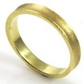 3mm wide, turned, mat texture, wedding band