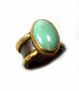 Handmade Turquoise solitaire ring