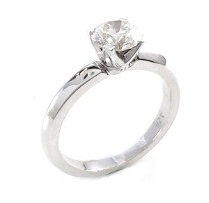 Diamond solitaire ring model Victoria