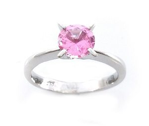 Pink Sapphire solitaire ring model Skylar