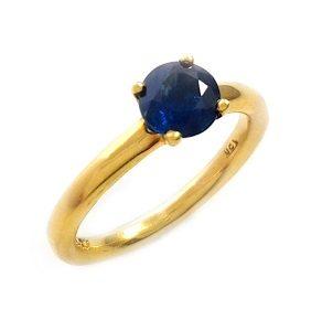 Blue Sapphire solitaire ring model Tamar