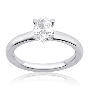 Oval cut diamond solitaire engagement ring model Tamar