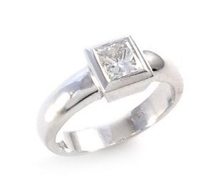 princess cut diamond solitaire engagement ring model Priel