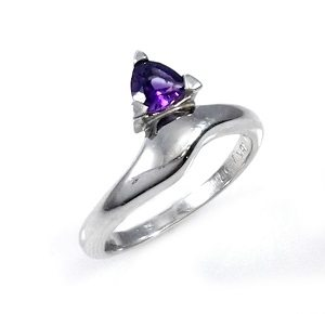 Amethyst solitaire ring model Hanny
