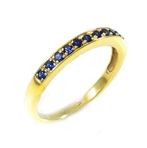 Blue Sapphires band ring model Polly