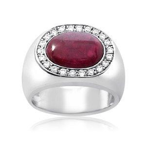Ruby & diamonds ring model Gabriel