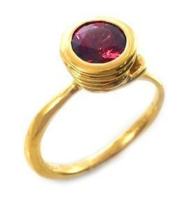 Rhodolite Garnet solitaire ring model Spring