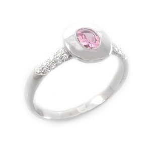 Pink Sapphire & diamonds ring model Trixie