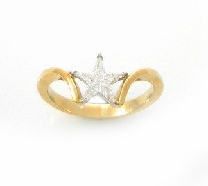 Star diamonds setting ring