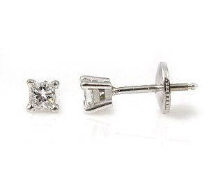 Princess cut diamonds stud earrings model Fa