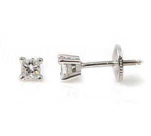 Princess cut diamonds stud earrings model Fa