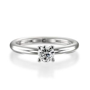 Diamond traditional solitaire ring